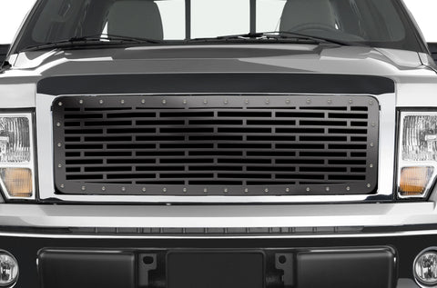 1 Piece Steel Grille for Ford F150 2009-2014 - BRICKS