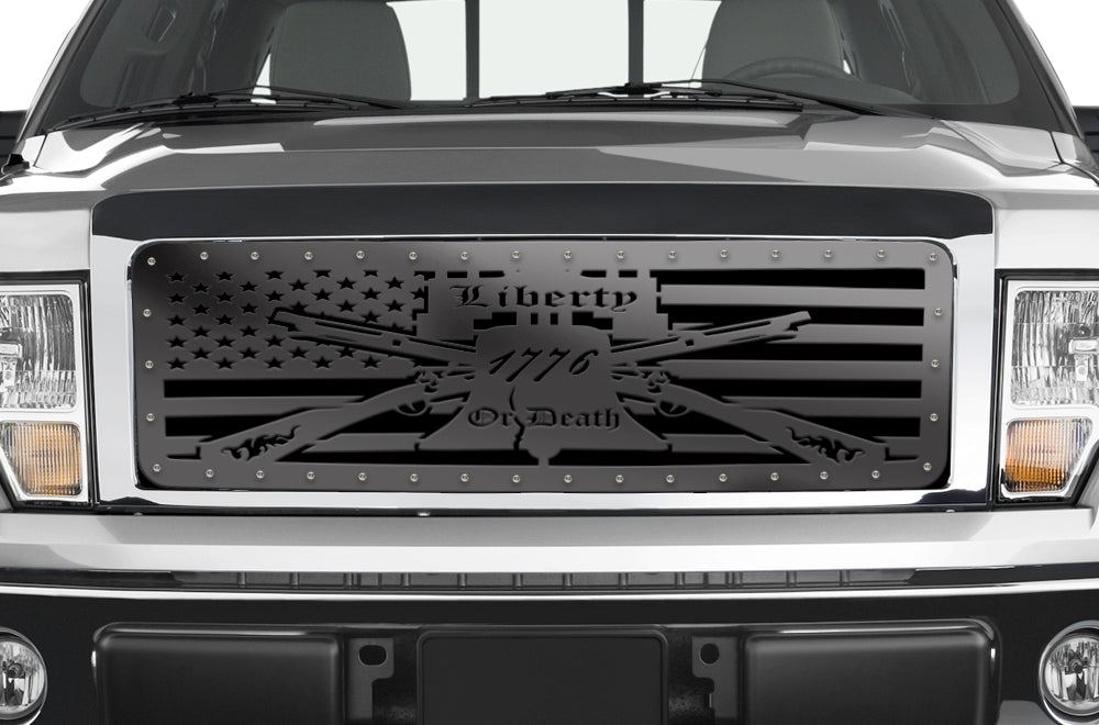 1 Piece Steel Grille For Ford F150 2009 2014 Liberty Or Death