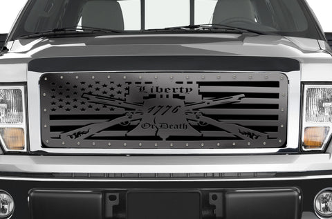 1 Piece Steel Grille for Ford F150 2009-2014 - LIBERTY OR DEATH