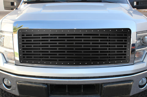 1 Piece Steel Grille for Ford F150 Lariat 2009-2012 - BRICKS
