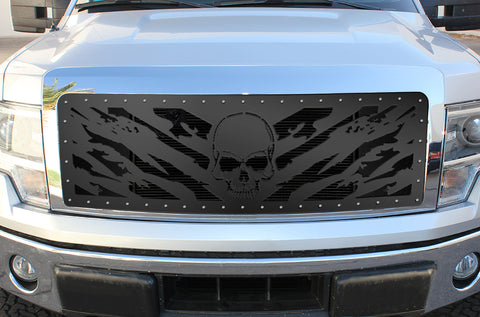 1 Piece Steel Grille for Ford F150 Lariat 2009-2012 - NIGHTMARE