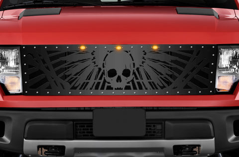 1 Piece Steel Grille for Ford Raptor SVT 2010-2014 - WRATH