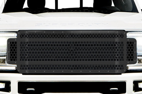 1 Piece Steel Grille for Ford SuperDuty F250/F350 2017-2019 | HEX