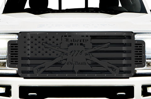 1 Piece Steel Grille for Ford SuperDuty F250/F350 2017-2019 | LIBERTY OR DEATH