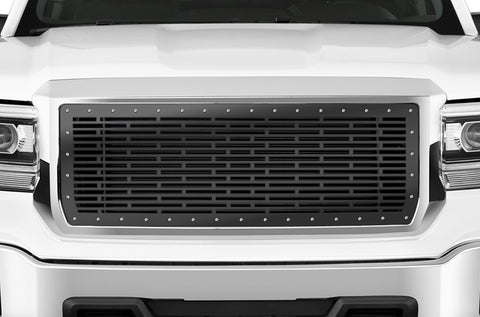 1 Piece Steel Grille for GMC Sierra & Sierra Denali 2014-2015 - BRICKS
