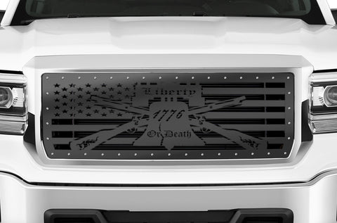 1 Piece Steel Grille for GMC Sierra & Sierra Denali 2014-2015 - LIBERTY OR DEATH