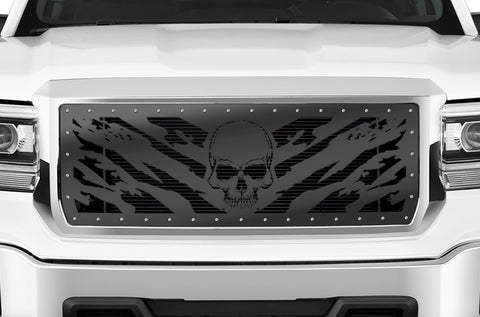 1 Piece Steel Grille for GMC Sierra & Sierra Denali 2014-2015 - NIGHTMARE