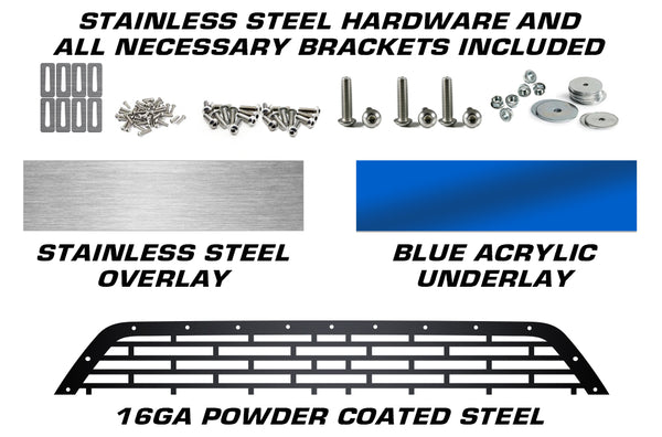 1 Piece Steel Grille for Toyota Tacoma 2018-2020 - HAWAII WITH STAINLESS STEEL AND ACRYLIC UNDERLAY