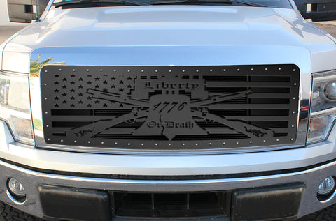 1 Piece Steel Grille for Ford F150 Lariat 2009-2012 - LIBERTY OR DEATH