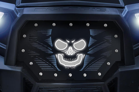 1 Piece Steel LED X-Lite Grille for Polaris RZR 1000 2014-2018 - HAVOC