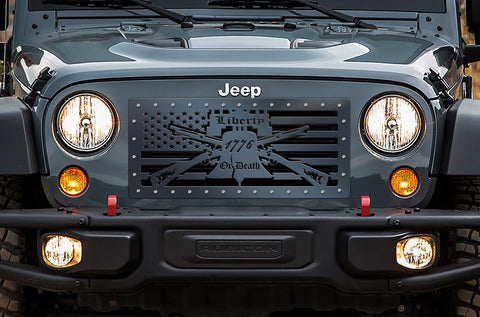 1 Piece Steel Grille for Jeep Wrangler 2007-2016 - LIBERTY