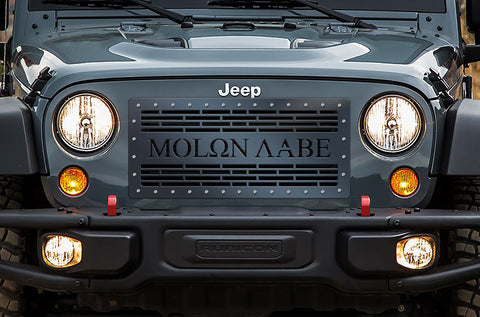 1 Piece Steel Grille for Jeep Wrangler 2007-2016 - MOLON LABE