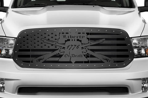 1 Piece Steel Grille for Dodge Ram 1500 2013-2018 -LIBERTY OR DEATH