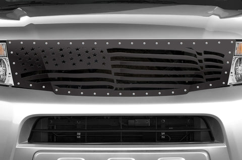 1 Piece Steel Grille for Nissan Pathfinder 2008-2011 - AMERICAN FLAG
