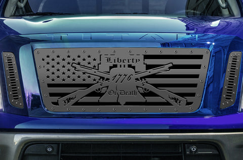 1 Piece Steel Grille for Nissan Titan 2016-2019 - LIBERTY or DEATH