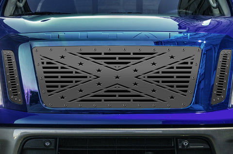 1 Piece Steel Grille for Nissan Titan 2016-2019 - REBEL
