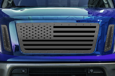 1 Piece Steel Grille for Nissan Titan 2016-2019 - USA FLAG