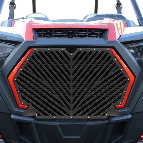 1 Piece Steel Grille for Polaris RZR Turbo/Turbo S 2019-2020 - V Stripe