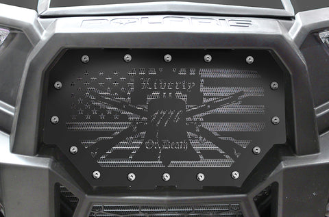 1 Piece Steel Grille for Polaris RZR 1000 2015-2017 - LIBERTY OR DEATH