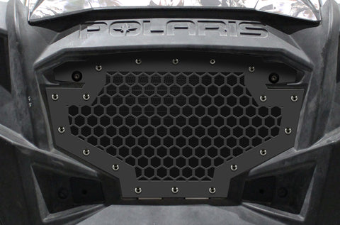 1 Piece Steel Grille for Polaris RZR 800/900 2011-2014 - HEX