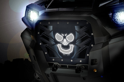 1 Piece Steel LED X-Lite Grille for Polaris RZR 2017 Turbo - HAVOC