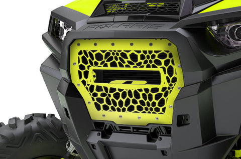 1 Piece Steel Grille for Polaris RZR 2017 Turbo - MARINE CAMO fits 10