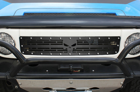 1 Piece Steel Grille for Toyota FJ Cruiser 2007-2014 - SKULL
