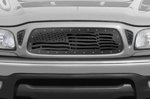 1 Piece Steel Grille for Toyota Tacoma 2001-2004 - AMERICAN FLAG