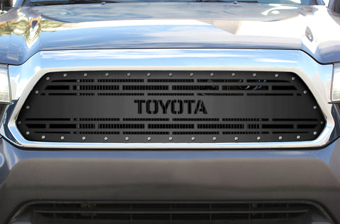 1 Piece Steel Grille for Toyota Tacoma 2012-2015 - TOYOTA