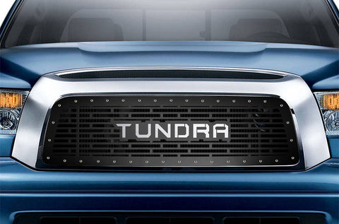1 Piece Steel Grille for Toyota Tundra 2007-2009 - STAINLESS STEEL TUNDRA