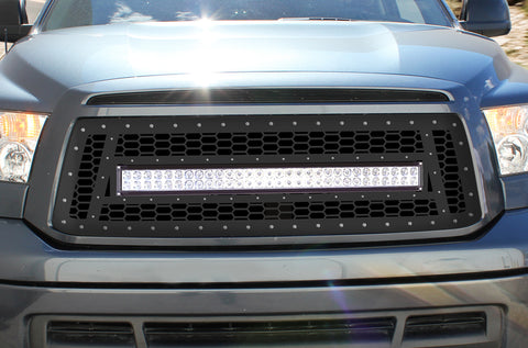 1 Piece Steel Grille for Toyota Tundra 2010-2013 - LED LIGHT BAR