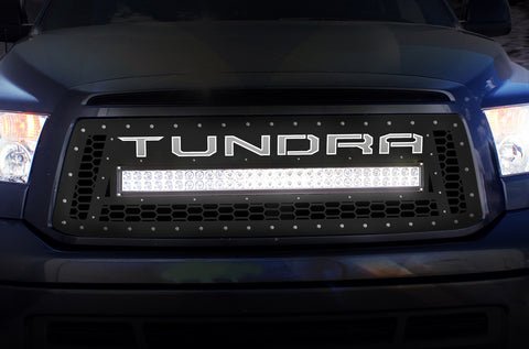 1 Piece LED X-Lite Steel Grille for Toyota Tundra 2010-2013 - TUNDRA w/ LED LIGHT BAR