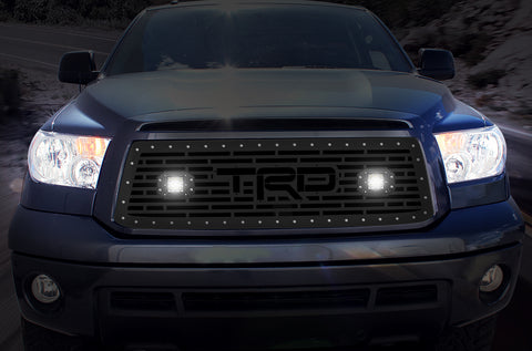 1 Piece Steel Grille for Toyota Tundra 2010-2013 - TRD + LED Light Pods