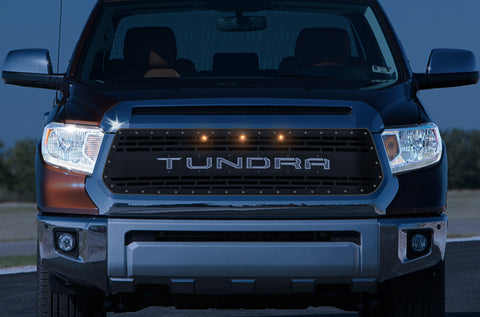 1 Piece LED X-Lite Steel Grille for Toyota Tundra 2014-2017 -