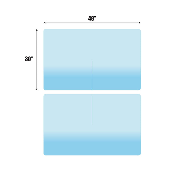 "Sneeze Guard 48"" x 30"" Protective Acrylic Shield 4-Person Divider"