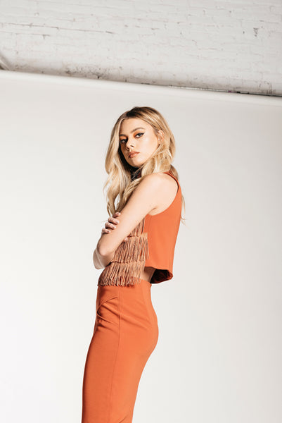 Fringe Crop - Cali Poppy - Demartini