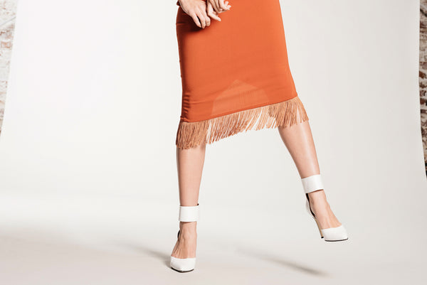 Fringe Skirt - Cali Poppy - Demartini