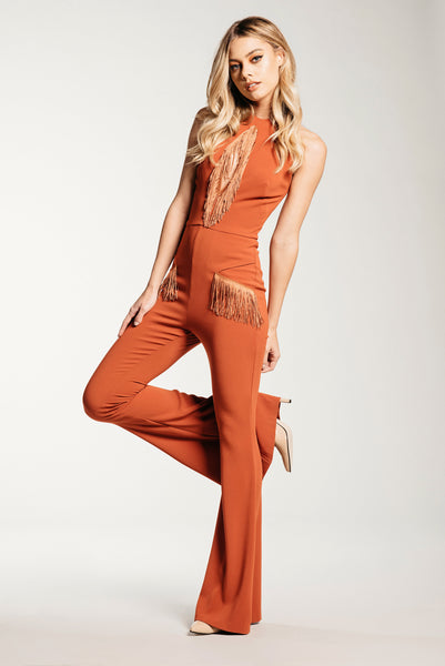 Bird of Paradise Jumpsuit - Cali Poppy - Demartini