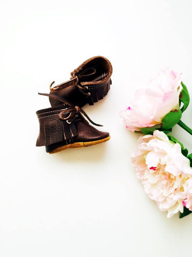 Walnut Fringed Boots