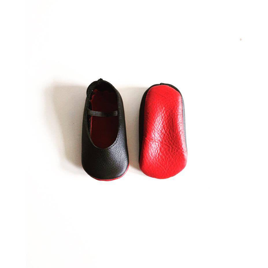 Black Ballerinas - Red bottoms - LUXE + RO