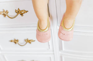 Ballerinas - Pink and Gold fringed