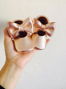 Mary Janes - Gold Rose & Big bow - LUXE + RO