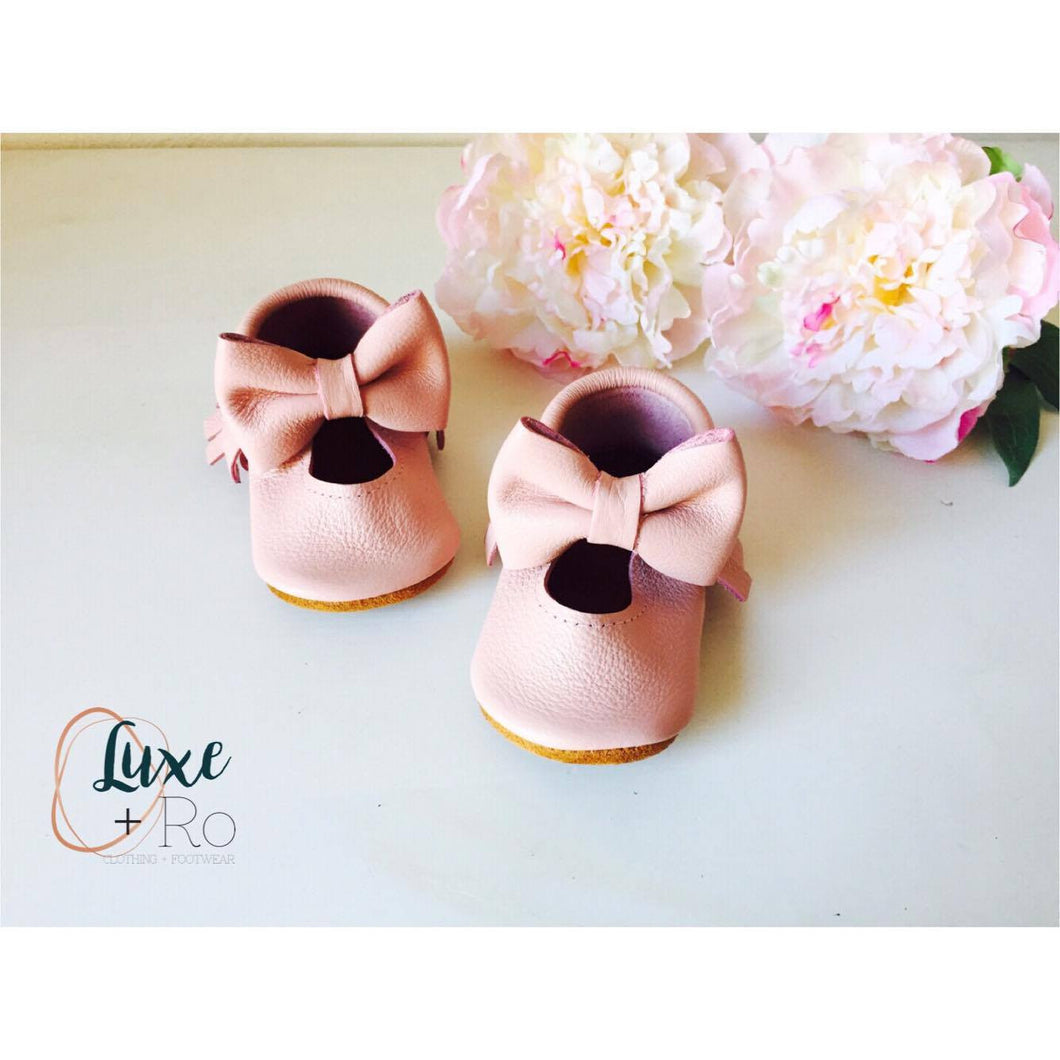 Mary Janes - Baby pink & Big bow - LUXE + RO