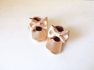 Mary Janes - Gold Rose & Big bow