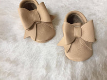 big bow moccasins-soft soled shoes-baby girl shoes-baby moccasins