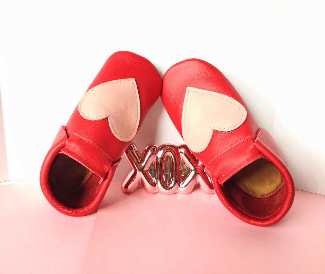 Red and Pink heart Shoes - LUXE + RO