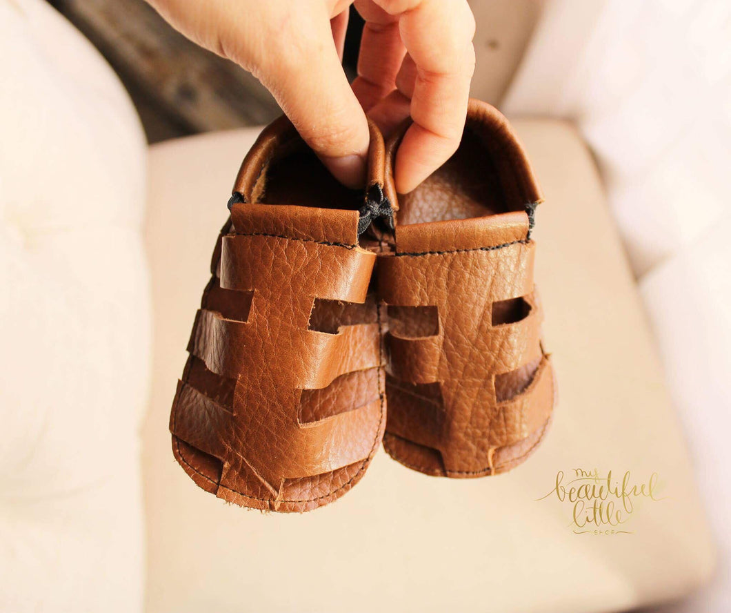 Romano Sandals - Brown - LUXE + RO