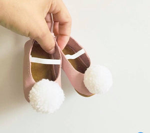 Pink Ballerinas with pompons - LUXE + RO