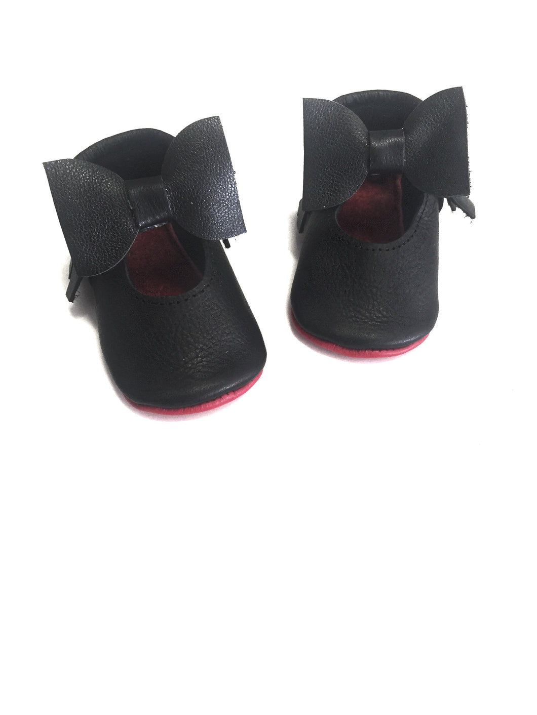 Black Mary Janes - Red bottoms