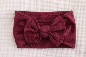 Bow Headband | Wine - LUXE + RO